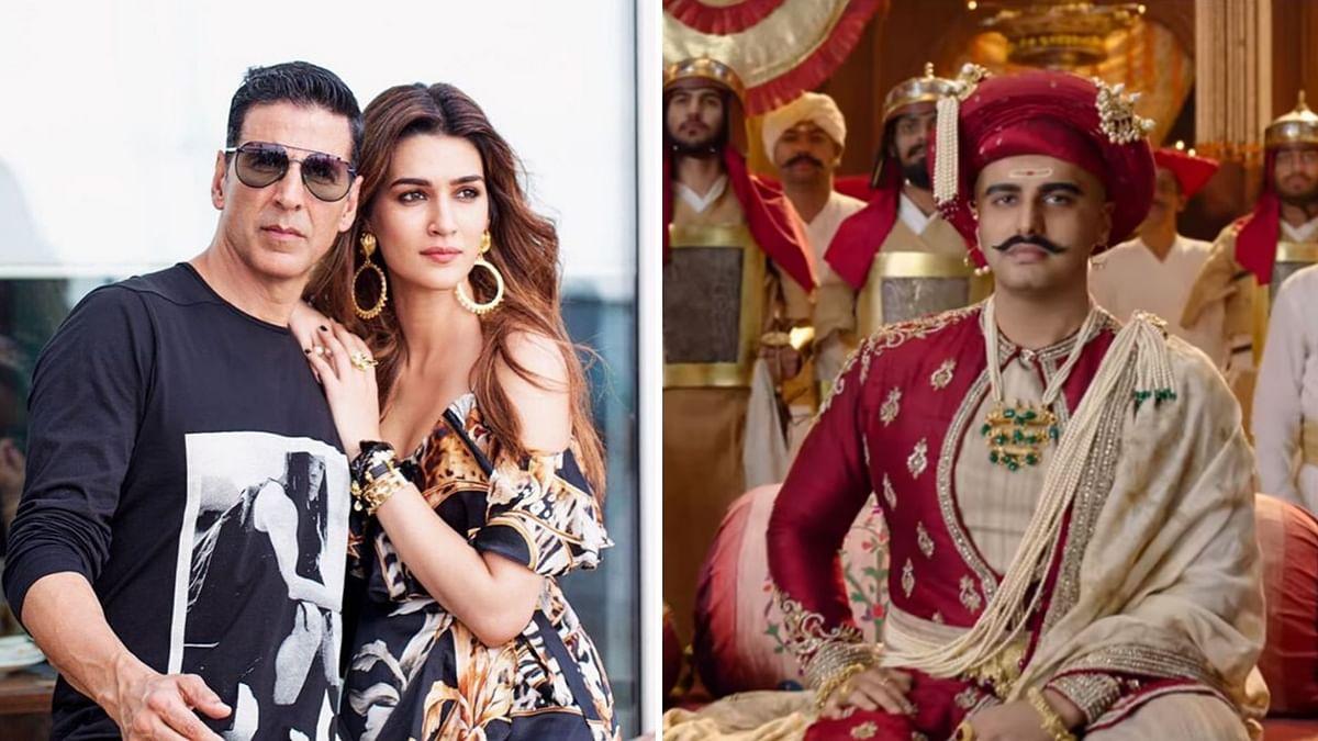 Kriti Sanon and Akshay Kumar; a still from <i>Panipat</i>.