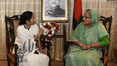 Kolkata:  Bangladesh Prime Minister Sheikh Hasina during a meeting with West Bengal Chief Minister Mamata Banerjee in Kolkata on May 26, 2018. Photo used for representational purposes.