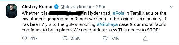 Akshay, Farhan, Swara Condemn Brutal Murder of Hyderabad Vet