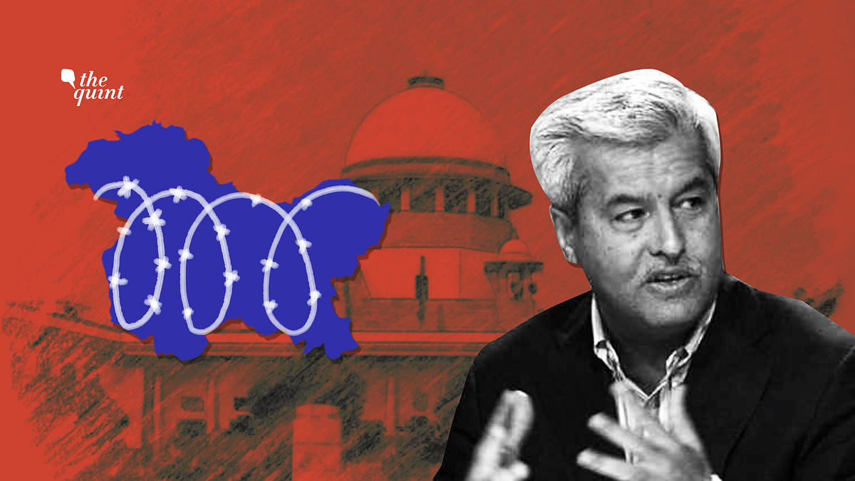 Senior advocate Dushyant Dave (pictured) was arguing against the restrictions in Kashmir in the Supreme Court.