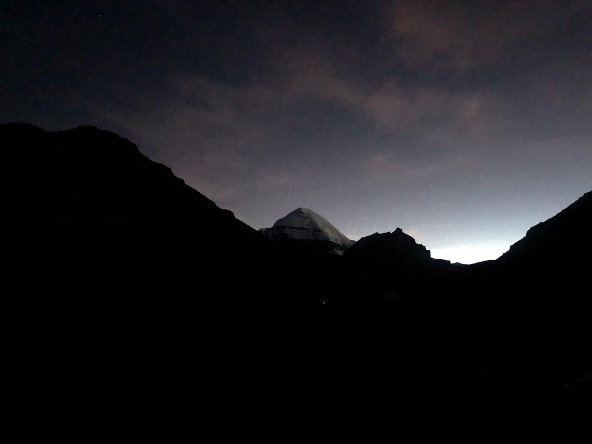 Mt Kailash's silhouette.