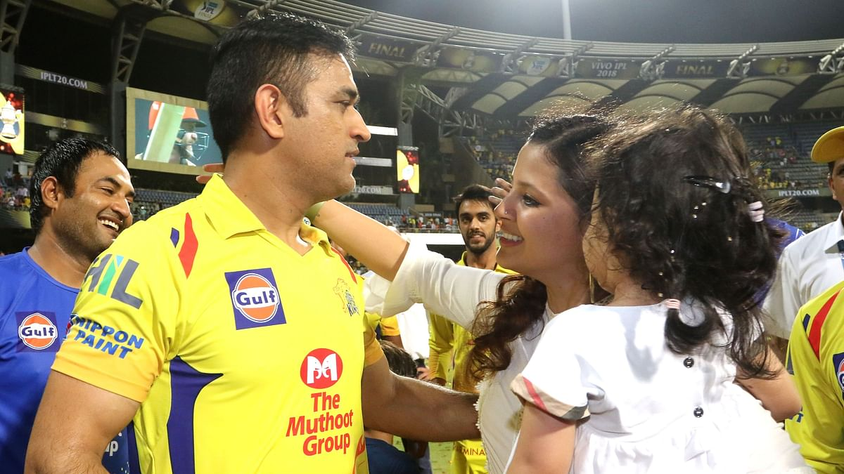 MS  Dhoni's wife Sakshi has once again rubbished the rumours of his retirement.