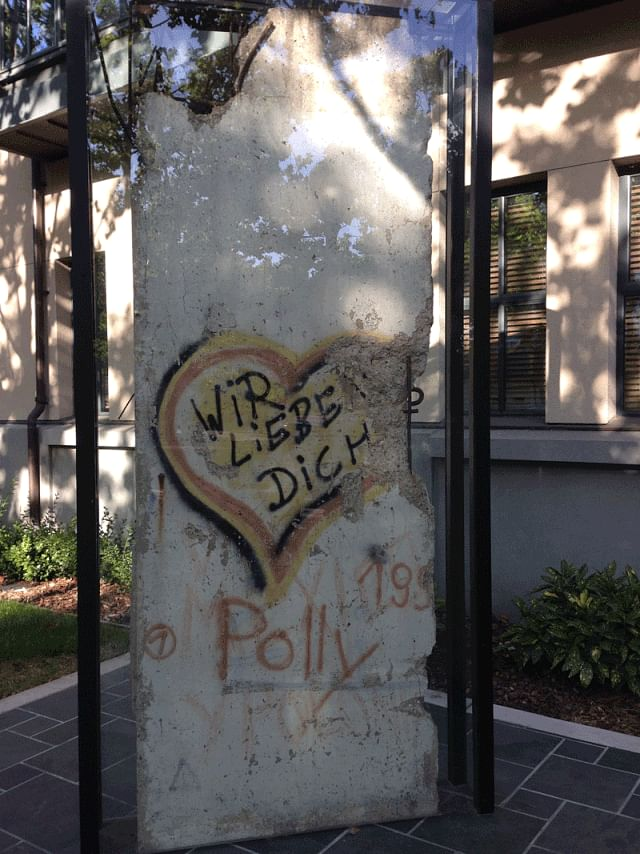 A segment of the Berlin Wall in Mountain View, California.