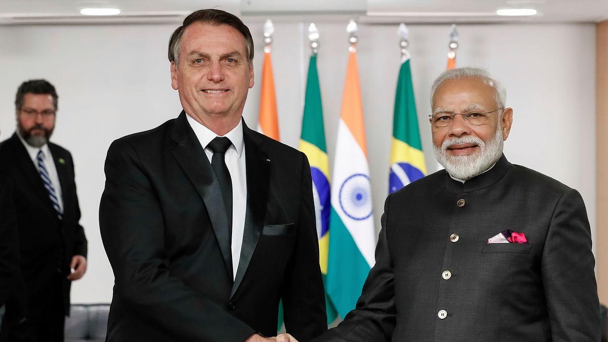 Prime Minister Narendra Modi with President Jair Bolsonaro