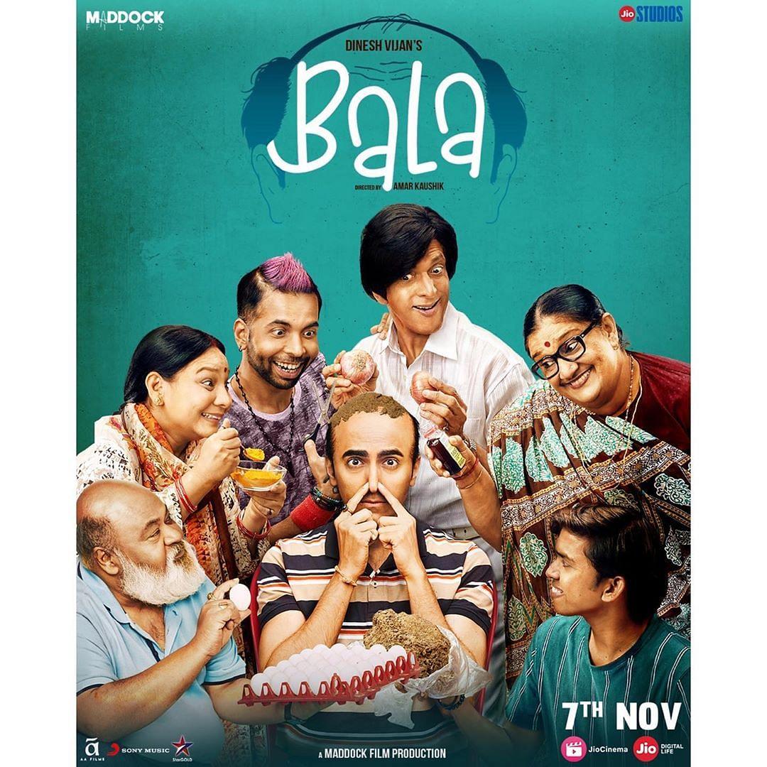 <i>Bala </i>stars Ayushmann, Bhumi and Yami Gautam in lead roles.