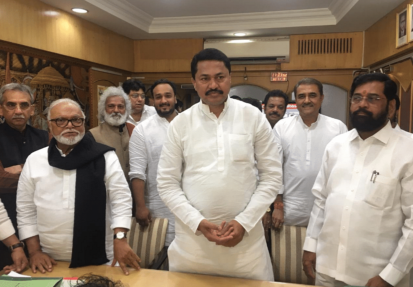 Congress leader Nana Patole files nomination for Speaker election.