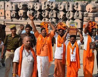 After the final Ayodhya verdict, first set of Shilas reached Ayodhya for the construction of Ram temple.