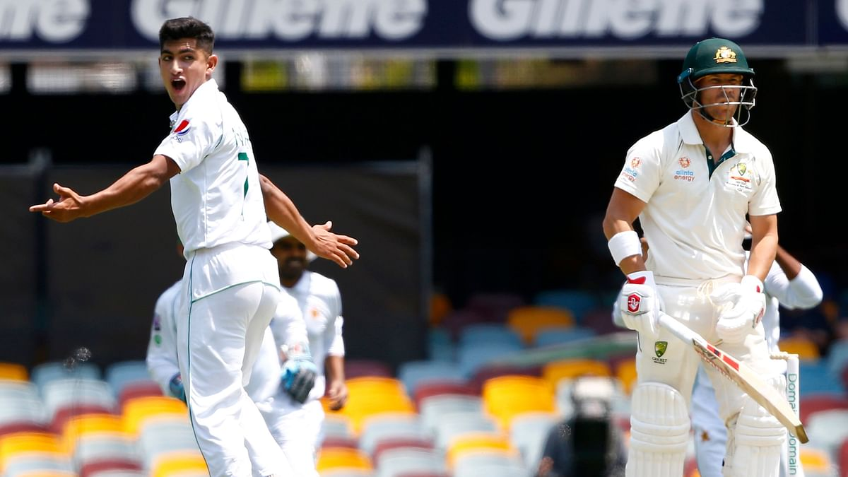 """One of the biggest endorsements for Naseem Shah came from David Warner, who had to face his bowling at speeds up to 148 kph and said """"there's a superstar there."""""""