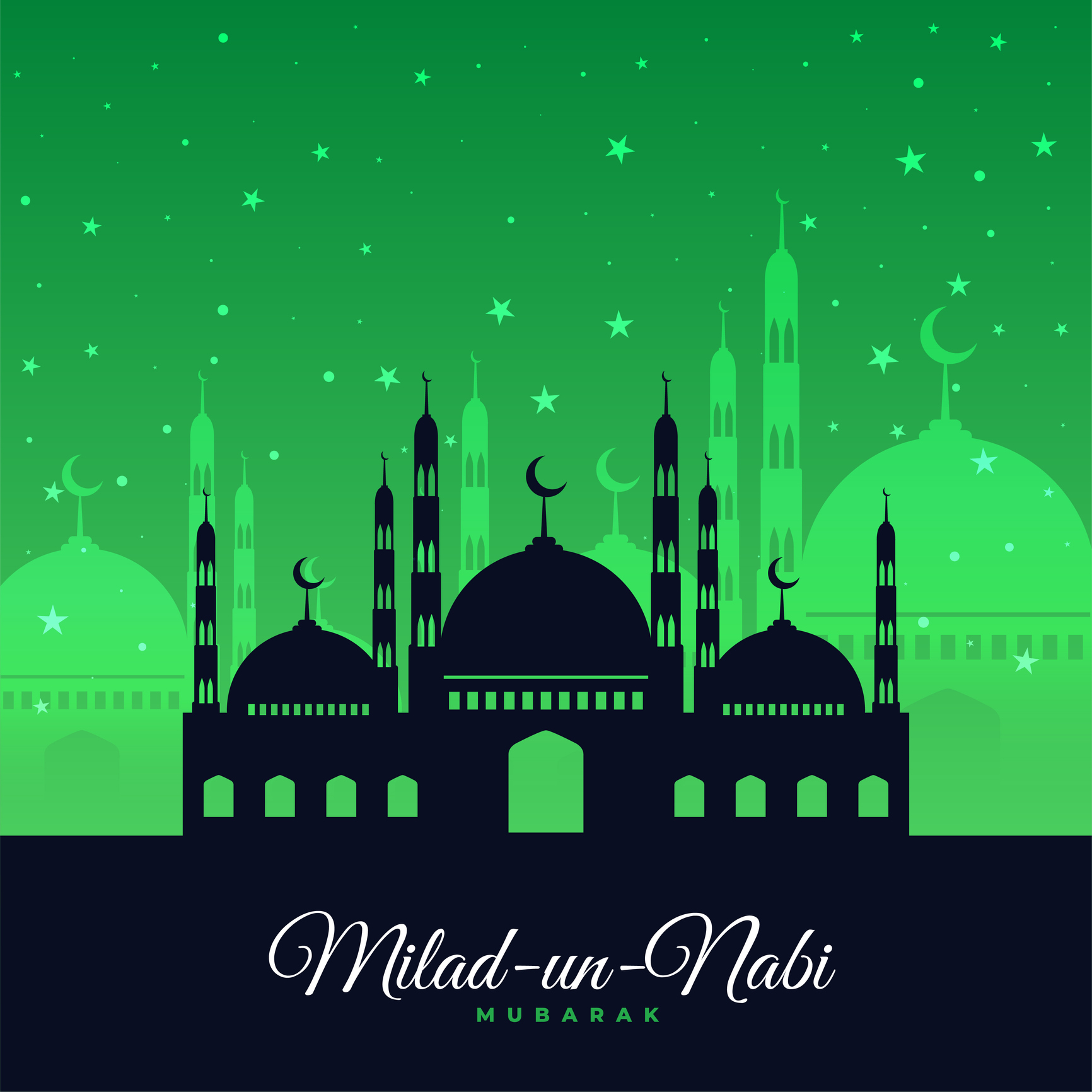 Eid Milad-un-Nabi wishes in English.