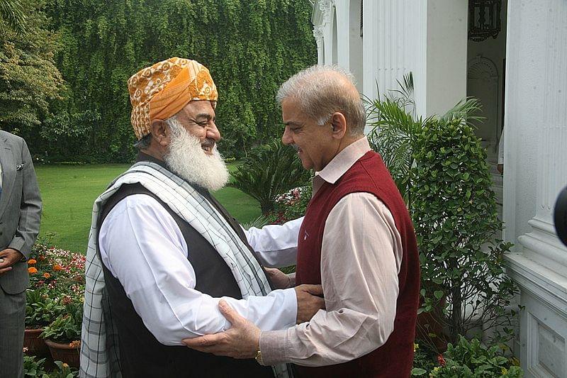 File photo of Maulana Fazl-ur-Rehman and Shebaz Sharif