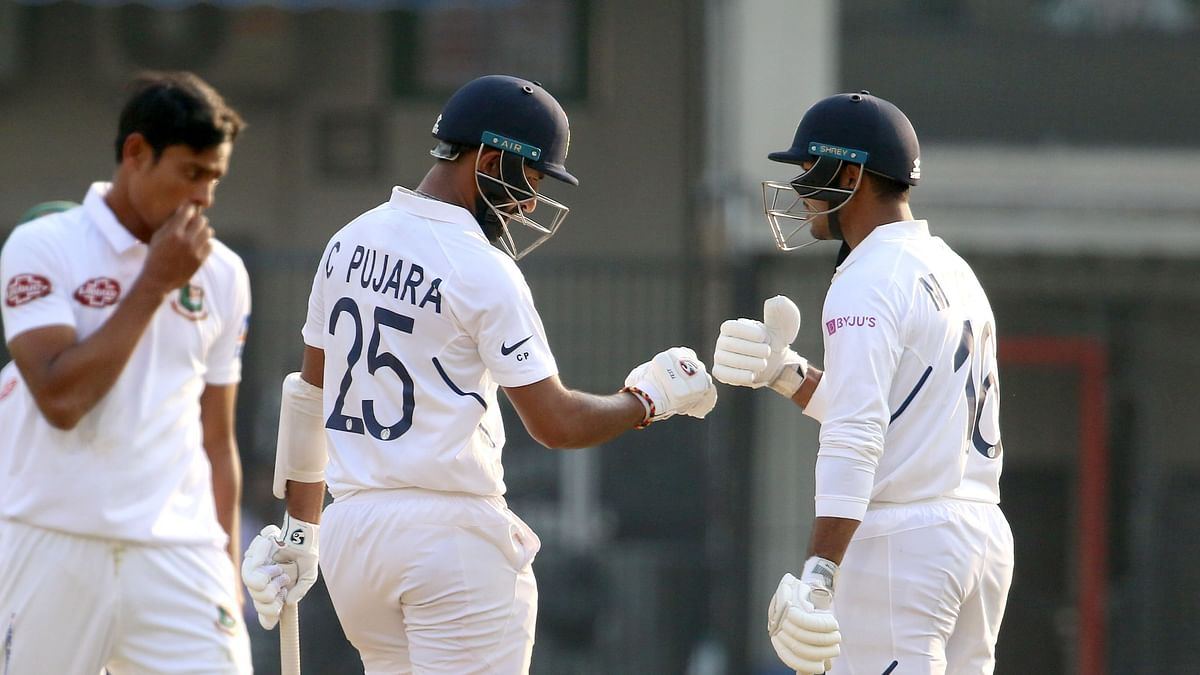 India vs B'desh, Indore Test: India Trail by 64 Runs at Stumps
