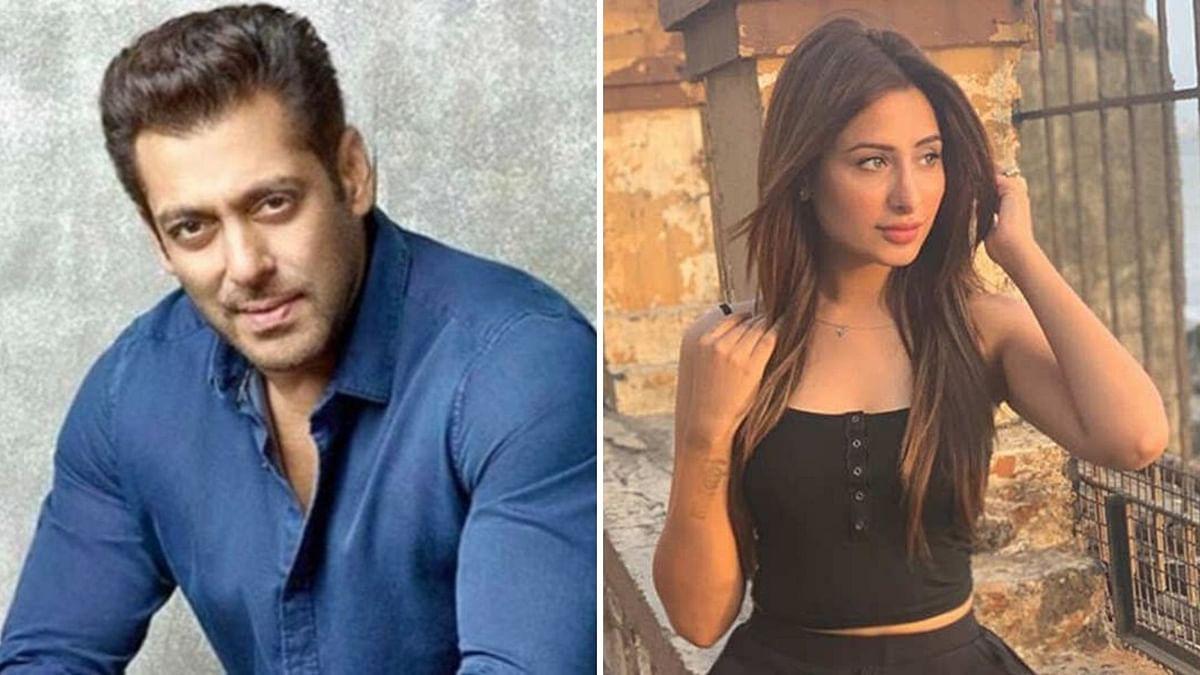 Salman Khan and Mahira Sharma.