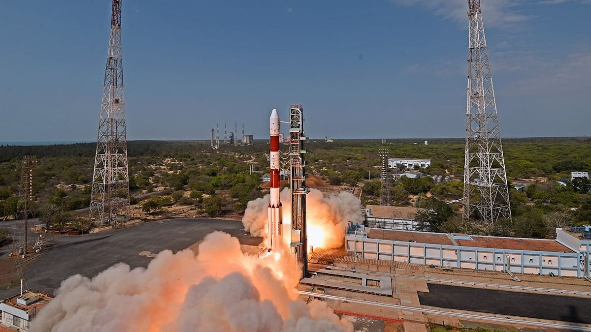 The PSLV C-38 takes off from Sriharikota with Cartosat-2. Image for representation.