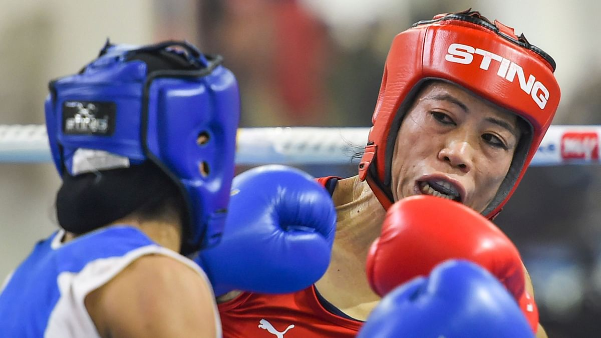 Mary Kom beat Ritu Grewal with an unanimous verdict in the preliminary bout of 51kg.