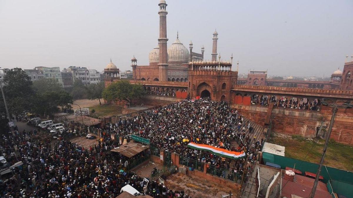 CAA protests at Jama Masjid led by Chandrashekhar Azad.