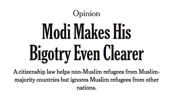 Screenshot of NYT Opinion headline
