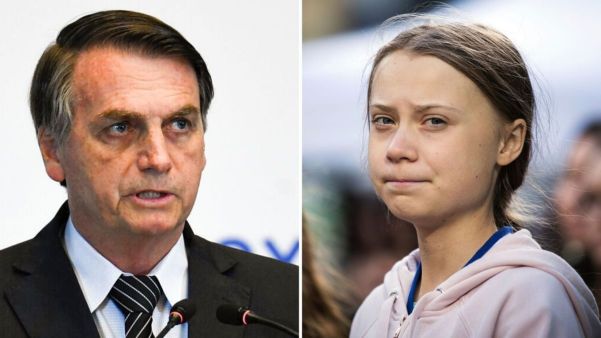 Bolsonaro questioned the coverage news media have given Greta Thunberg.