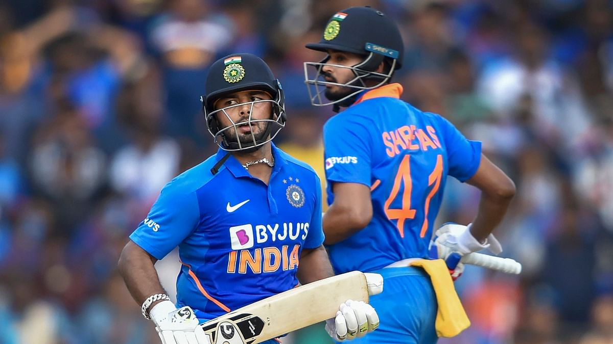 Rishabh Pant becomesthe first Indian wicketkeeper to record a fifty vs West Indies at Chepauk in ODIs.