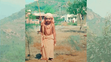 This picture of Nithyananda Paramashivam as a three-year-old has been posted on the website as the time when he was identified as an incarnation.