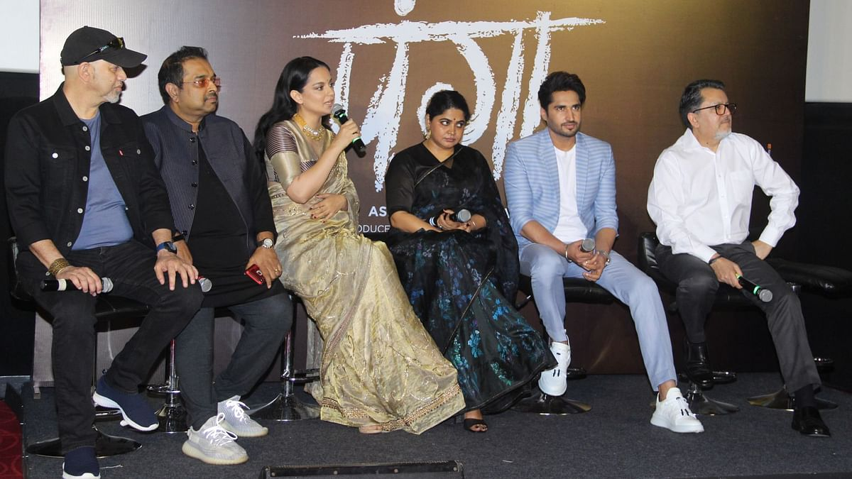 The team of <i>Panga </i>at the film's trailer launch.