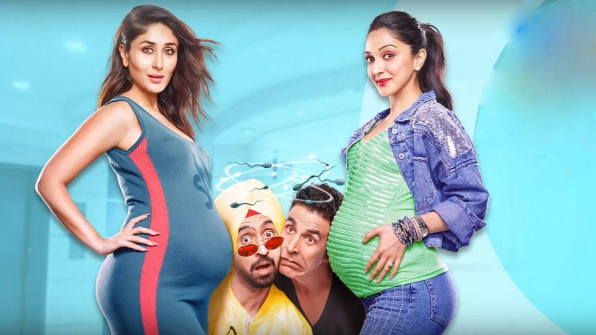 Kareena Kapoor, Diljit Dosanjh, Akshay Kumar and Kiara Advani in <i>Good Newwz.</i>