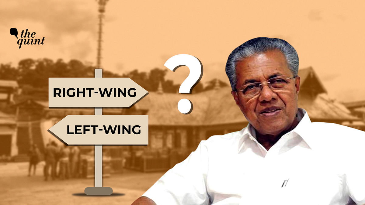 Image of Kerala CM Pinarayi Vijayan and Sabarimala temple (in the background) used for representational purposes.