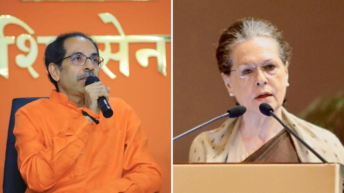 Maharashtra CM Uddhav Thackeray (Left); Congress President Sonia Gandhi (Right)