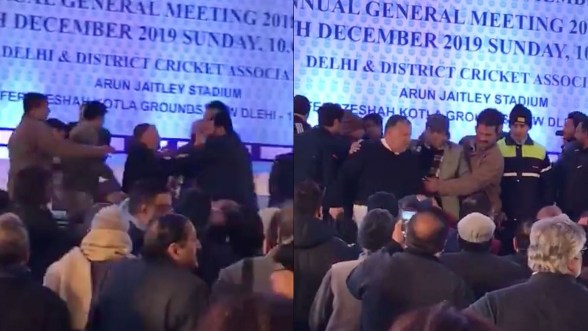 Watch: Delhi Cricket Officials Involved in Fist Fight During AGM