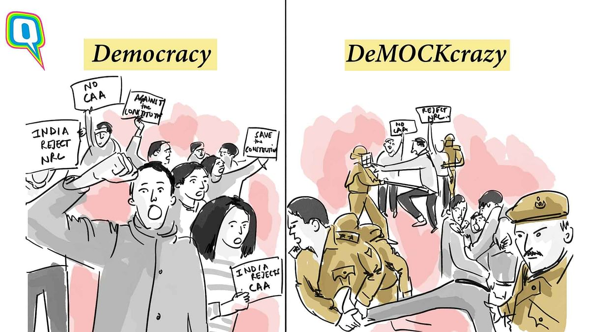Here's a simple graphic explaining the difference between a democracy and a 'demockcrazy'.