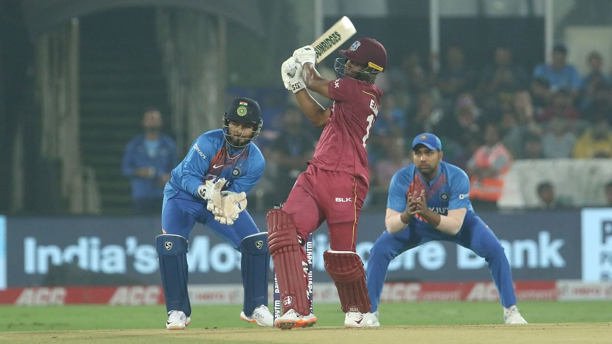 Evin Lewis scored 40 off 17 balls including three sixes and four boundaries.
