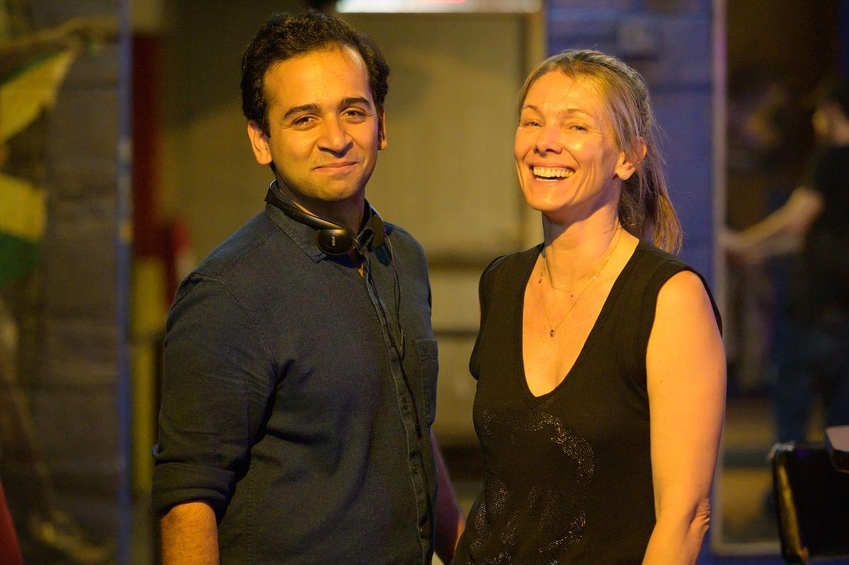 Aditya J Patwardhan with writer producer Nicole Cannon.