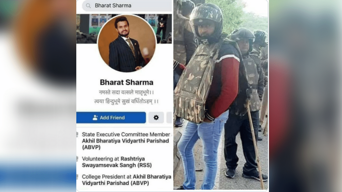Man in Civilian Clothes Is Delhi Cop, Not ABVP's Bharat Sharma