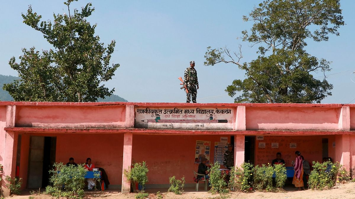 A security personnel on election duty in Jharkhand. Image used for representation.
