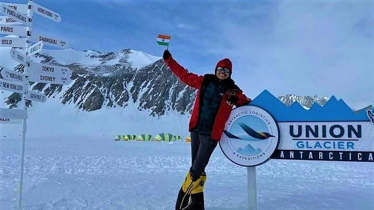 18-year-old Malvath Poorna is now one peak away from her goal of scaling the tallest peak in all seven continents.