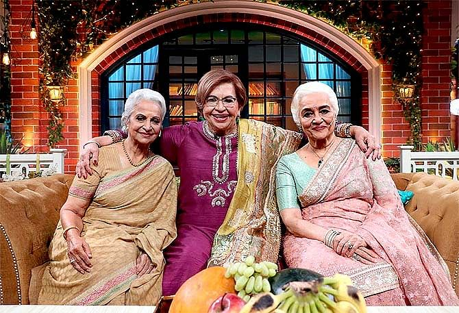 Waheeda Rehman, Helen and Asha Parekh on The Kapil Sharma Show.