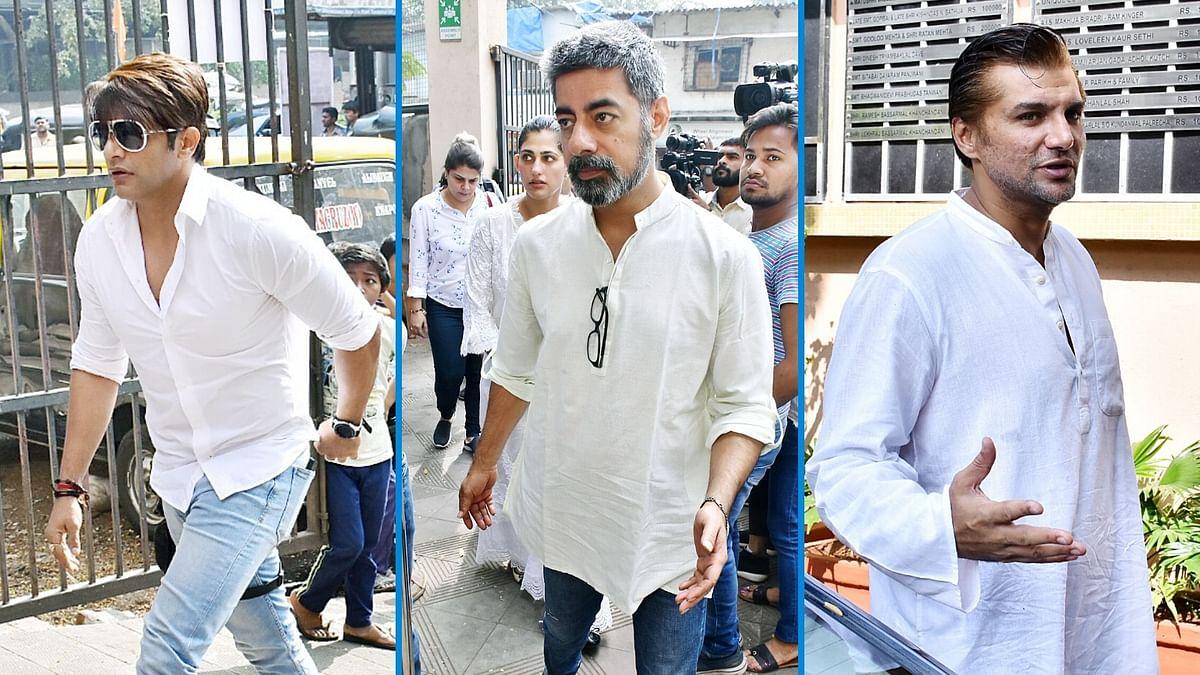 Pics: Karanvir Bohra, Sushant Singh Pay Respects to Kushal Punjabi