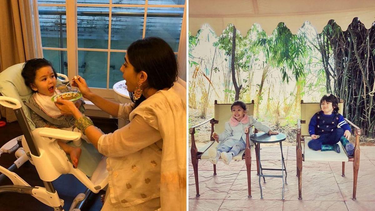 Sisters Sara & Inaaya Share Adorable B'day Wishes for Taimur