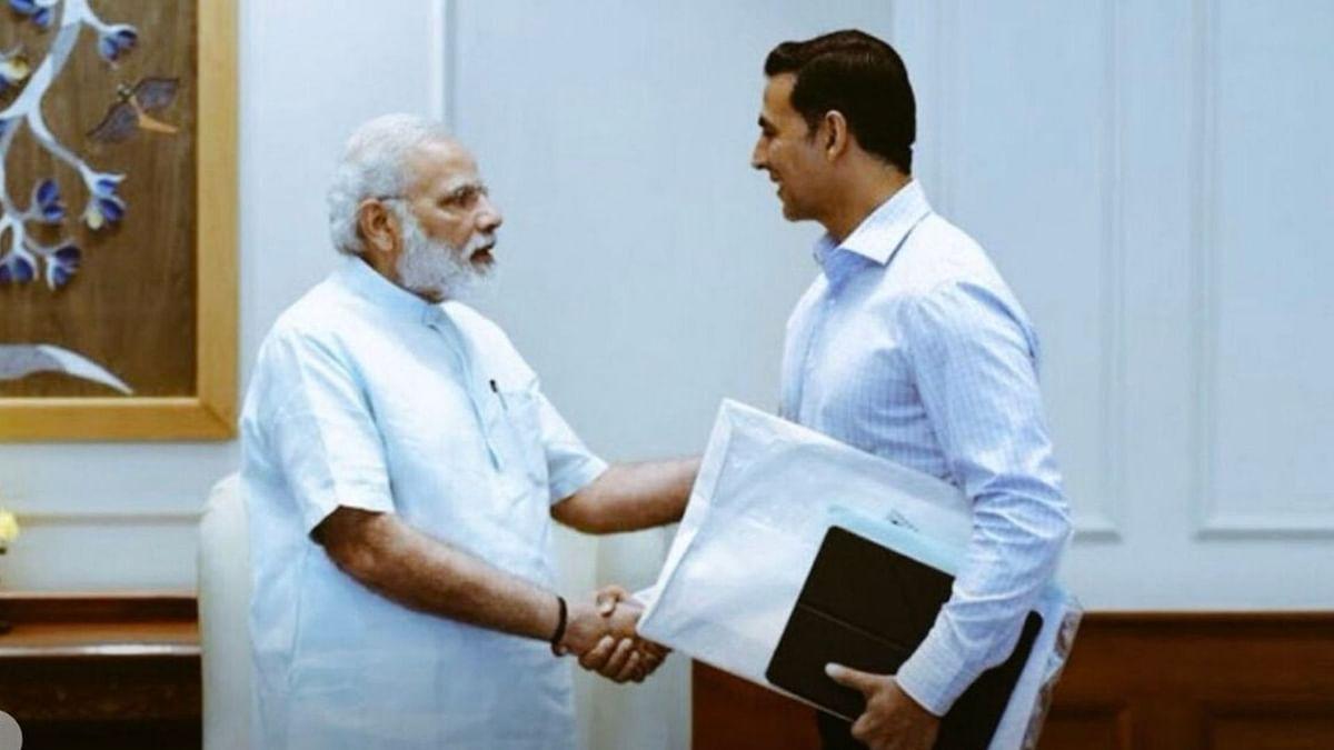 Akshay Kumar with PM Narendra Modi.