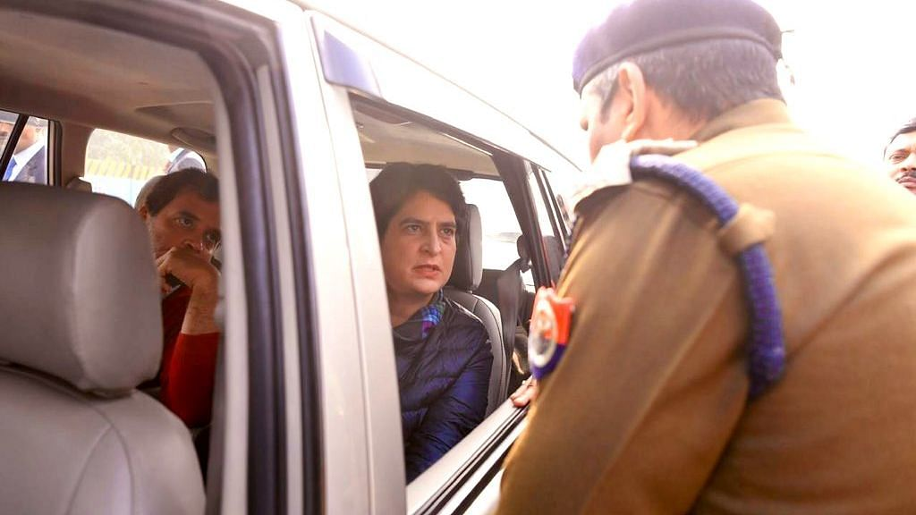CAA Unrest: Rahul, Priyanka Stopped by UP Police Outside Meerut