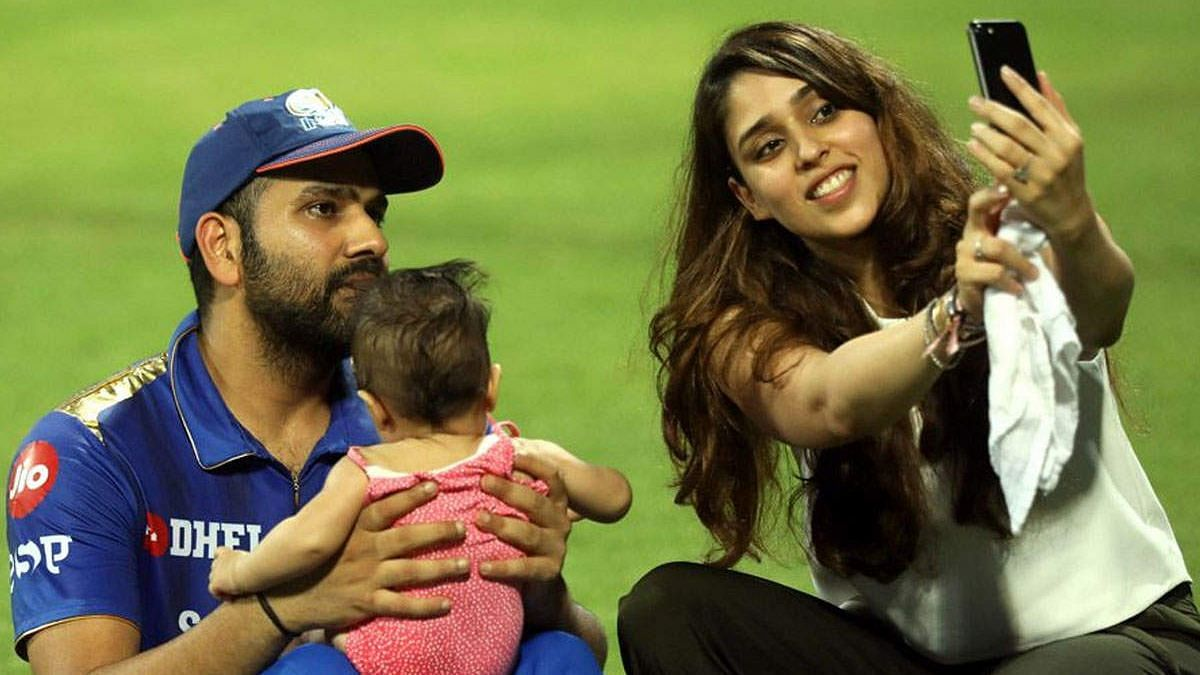 Witnessing Rohit Sharma's swansong with the bat was his wife Ritika, who was at the Wankhede Stadium along with their daughter Samaira