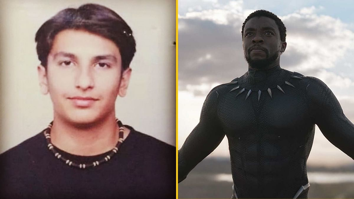 Fans have been comparing a photo of Ranveer Singh to Marvel's Black Panther.