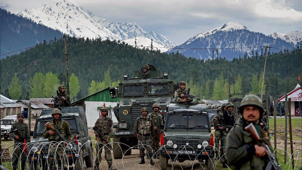 Army personnel guard a camp in Jammu and Kashmir's Kupwara. Image used for representational purposes only.