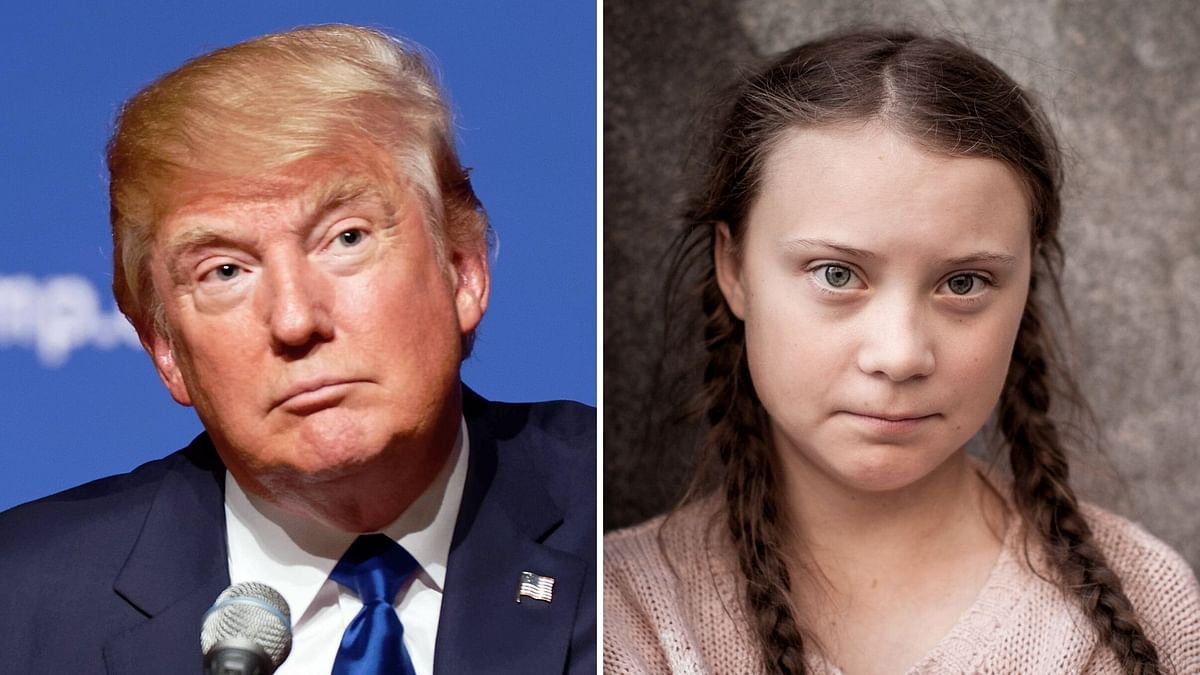 17-year-old climate activist Greta Thunberg retorts to Donald Trump's jibe against her.