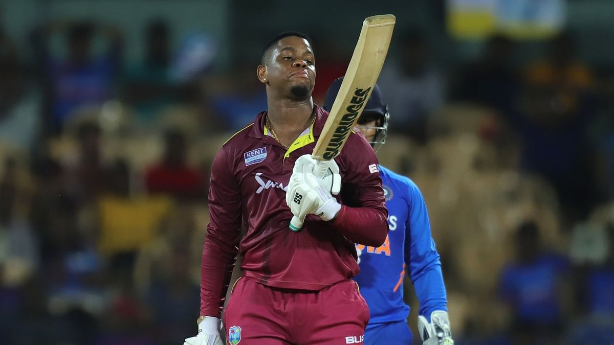 Shimron Hetmyer scored a 106-ball 139 to bring up his second ODI century against India.