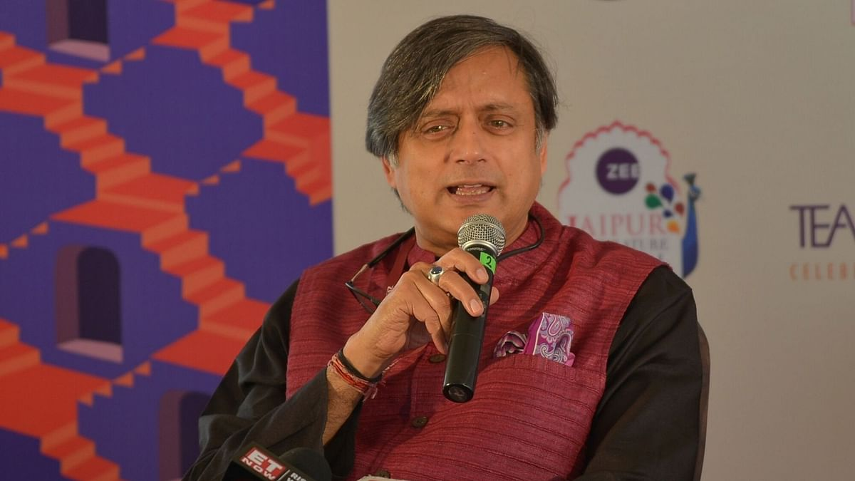 Shashi Tharoor at the Jaipur Literature Festival.