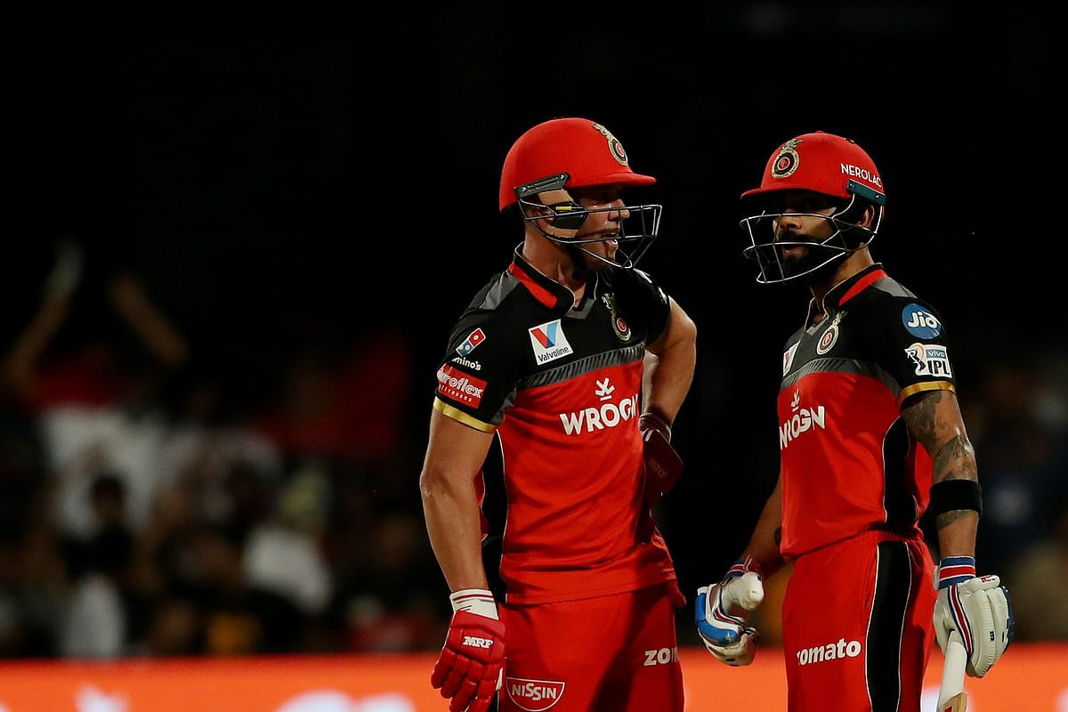 Whenever Kohli and De Villiers have failed together, RCB has always ended up scoring a low total.