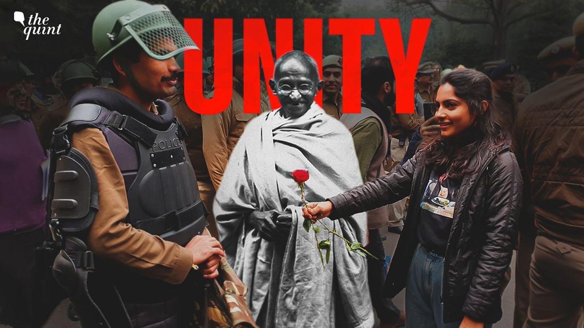 Mahatma Gandhi Rediscovers the Idea of India Amid CAA-NRC Protests