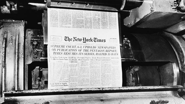 Public confidence in government was shaken by the publication of the Pentagon Papers in 1971.