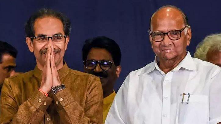 File image of Sharad Pawar and Uddhav Thackeray.
