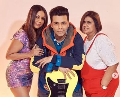 "Filmmaker Karan Johar channeled his inner Rahul from  ""Kuch Kuch Hota Hai"" and superstar Shah Rukh Khan"